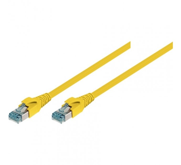 Leoni patch cable S/FTP, PiMF, Cat 6A, yellow, 0,5 m Exertis