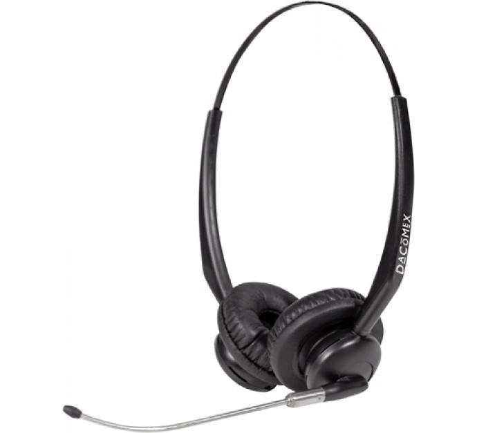 dacomex callcenter headset 2 ohrmuscheln schwarz. Black Bedroom Furniture Sets. Home Design Ideas