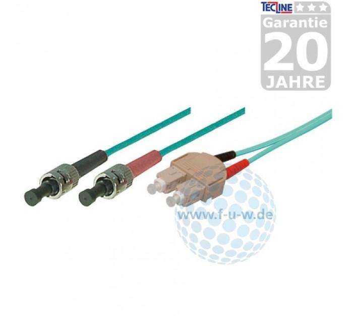 1,0 m SC Duplex Stecker//Stecker 50//125/µm erikaviolett oder t/ürkis LWL OM4-Faser Patchkabel