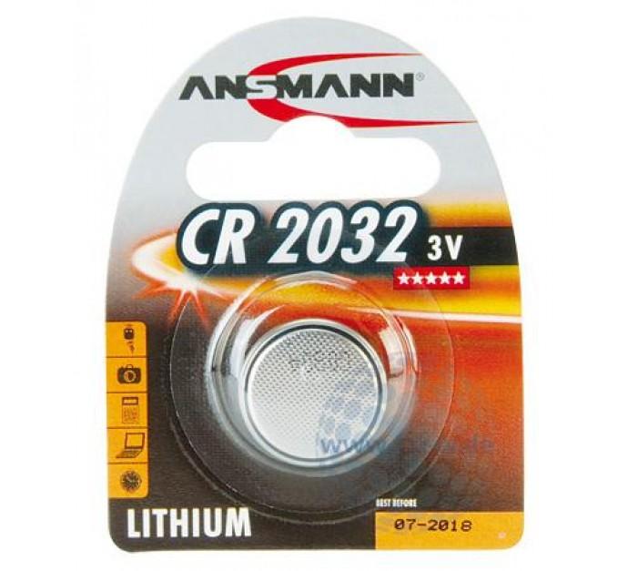 ansmann knopfzelle cr 2032 3v ve 1 kompatibel mit dl2032 e cr2032 sb t51 kcr2032. Black Bedroom Furniture Sets. Home Design Ideas