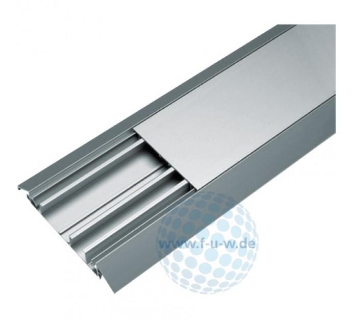 Hager Aufbodenkanal Aus Eloxiertem Aluminium 18 X 125 Mm Trittfest