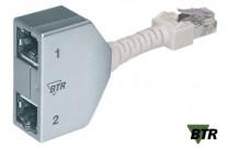MetzConnect BTR Cable Sharing Adapter, Cat.5, 2x Ethernet Zum Anschluss von 2 Ethernet-Komponenten über eine Leitung