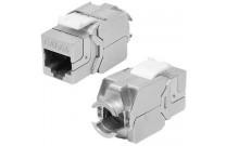 Anschlussbuchse RJ45, Cat.6A (ISO), Keystone-Format Zum Einbau in Modulträger, Datendosen oder IP 44 Aufputzgehäuse