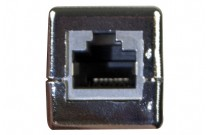 Modularadapter, Cat.6A, RJ45 Bu. / RJ45 Bu. Adapter zum Verbinden von 2 Patchkabeln