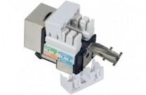 Anschlussbuchse RJ45, Cat.5e, kurzes Keystone-Format Zum Einbau in Modulträger, Datendosen oder IP 44 Aufputzgehäuse