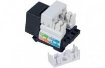Anschlussbuchse RJ45, Cat.5e, kurzes Keystone-Format, schwarz Zum Einbau in Modulträger, Datendosen oder IP 44 Aufputzgehäuse