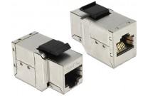 DeLOCK Keystone Modul RJ45 Buchse an RJ45 Buchse, Cat.6A Dieses Modul von Delock können Sie zum Verlängern einer Netzwerk Verbindung verwenden