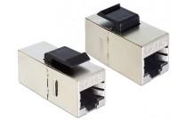 DeLOCK Keystone-Modul, RJ45 Buchse / RJ45 Buchse, Cat.6 Zum Einbau in Modulträger, Datendosen oder Aufputzgehäuse