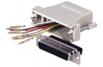 Modular Adapter ungeschirmt, 9pol D-Sub Bu./6P6C Bu. (RJ12)